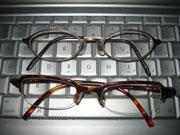 新しい眼鏡とそれまでの眼鏡